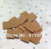 free shipping 500pcs/lot kraft paper earrings hang tag/Jewelry card/price tag/label/swing tag 2.5x3.5cm