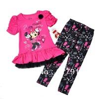 2013 childrens clothing sale kids christmas clothes girls dress kids clothes for girl minnie mouse sets 2pcs tutu dress+leggings