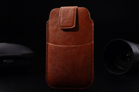 HKP ePacket Free Shipping with credit card bag Leather Pouch phone bags cases for philips w536 Cell Phone Accessories