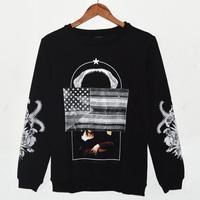 Dongkuan Flag Lady Bird of Paradise shark tooth pullover sweater men
