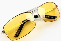 Dazzling  glare headlights polarized night vision glasses driving mirror vintage sunglasses
