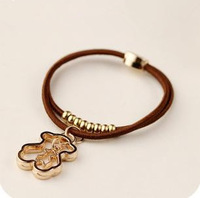 multi-use  PU leather Beaded hair band  metal bear bracelet  Uhuo Fashion UB171-2