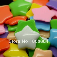 Free Shipping 20 Pcs Random Mixed Resin Stars Flatback Cabochon Scrapbook Decoration 29x29mm(W02569 X 1)