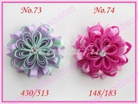 free shipping 65pcs 4.5''  Girl Boutique Modern Style B-Bird's Nest Hair Bow Clip hair accessories