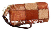 Promotional Fashion Vintage COWHIDE Handmade Women Purses Lady Organizer Wallets Long Style14*7*6 CM