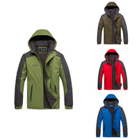 Hot Selling! 2013 Brand new Men winter jackets men's thickening outerwear windproof rainproof fleece outdoor jacket  size L-3XL