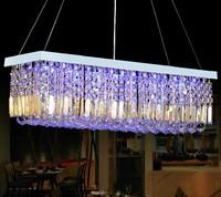 hot sale DHL Free shipping modern crystal lamp K9 crystal restaurant lights LED lights /bar lamp rectangular crystal chandelier