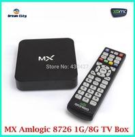 Wholesale 1 LOT 5 PCS CS838  MX Android 4.2  TV Box  AML8726-MX  Dual core XBMC  1G RAM 8G ROM  with Remote Control