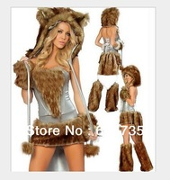 2013 Free shipping wolf Costume halloween costume for women/hot selling cosplay carnival costume  SHWC-8295