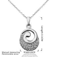 2014 hot sale jewellery  Spiral drilling P plating platinum inlaid Czech: X1.8 CM 3.1 C: 45 + 5 CM metal elephant charms