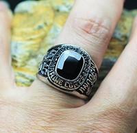 USMC/Signet Ring Steampunk/punk Usmc Marine Corps Titanium Ring Male/Men Jewelry Accessories