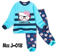 Free shipping 6set/lot Autumn Winter baby long sleeve pajamas Xmas girls sleepwear cute cartoon nightgown children pyjamas