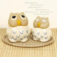 Handmade scrub caiyou owl mother and spice jar seasoning bottle kitchen utensils