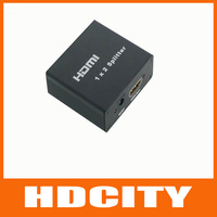 2 Port 1x2 Powered Hdmi Splitter V 1.3b 3D Certified-Up to 1080p  Free shipping