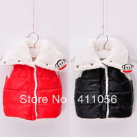 2013 autumn and winter the monkey girls clothing baby child with a hood vest cotton vest wt-1699