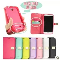 For samsung   i9500 holsteins s4 phone case mobile phone case protective case n7100 i9300 wallet side open