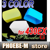 100% New Flash Bounce Diffuser Blue+Yellow+white kit for 430EX 430EXII FLASH Free Shipping
