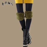 2013 new arrival winter fashion all-match elastic kneepad female leggings health care flanchard