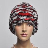13 wavingness formaldehyde rex rabbit hair knitted cap toe cap covering cap fashion elegant women's fur hat