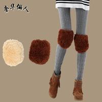 2012 thermal short fashion kneepad female thermal flanchard berber fleece kneepad cuish