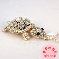 Luxury jewelry S925 silver necklace cute turtle necklace, color necklace Korean pop