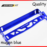 Rotation of registration plate mugen logo adjustable aluminum license plate auto frame license plate frame holder blue