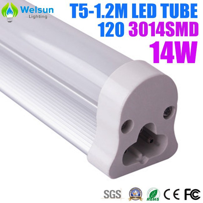 50X LED Tube T5 14W 120CM SMD3014 Integrated with bracket(China (Mainland))