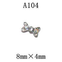 100pcs/design  Fashion 3D Alloy  color  Crystal  Nail art Decoration of 3D alloy 3D nail art studs A104
