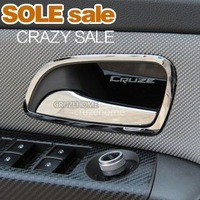 2013 hot!Chevrolet Cruze stainless steel interior doors hand-clasping decoration ring 4pcs/lot for Cruze,auto accessories