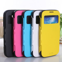 50pcs/lot SPIGEN SGP Slim Armor View Automatic Sleep Wake Flip Case for Samsung Galaxy S4 SIV I9500 9500 Free Shipping