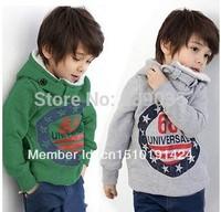 SH195 Retail children's winter sets Boys Hoodies Long Sleeve winter Hoodies kids coat Tops Children Coat 2-6yrs Free Shipping