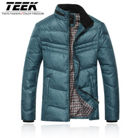 Teek2013 winter male down coat men's clothing outerwear casual short design stand collar slim