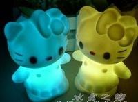Electronic candle lights led candle lamp colorful small eye-lantern luminous kt cat