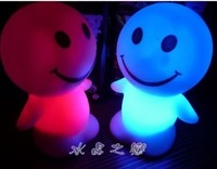 Electronic candle lights led candle lamp colorful light emitting doll small night light doll