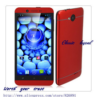 "Free shipping Sta S6 add GIFT MTK6589T Android 4.2 Quad-Core WCDMA 3G Bar Phone 5"", Wi-Fi, GPS, FM, 1GB+16GB Dual cameras -red"