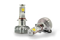 HB3 HEADLIGHTS High power Cree COB  LED Car Headlights2000LM  H4/H7/H8/H11/9006/9005  Free shipping