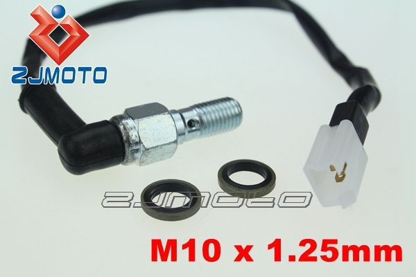 Hydraulic Brake Pressure Light Switch M10x1.25mm Banjo Bolt fit for Honda CRF XR Kawasaki KX 85 KXF Suzuki DRZ Yamaha WRF 450(China (Mainland))