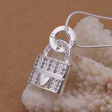 Wholesale Sterling 925 Silver Necklace 925 Silver Fashion Jewelry Fashion Love Lock Pendant Necklace SMTN351