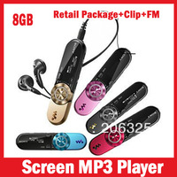 8G Screen Mp3 music Player FM radio,152 Digital+Record,With Clip+Retail Package+can have logo 5 Colors,Free Shipping