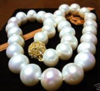 wholesale Cheap Small Article Natural Jewelry 12mm Genuine SOUTH SEA AAA WHITE PEARL NECKLACE