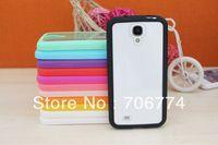 Slim Protective TPU edge + acrylic thin Clear Case for Samsung I9500 GALAXY S4 50 pcs/lot  Wholesale