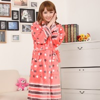 2013 winter long-sleeve sleepwear thermal super soft mink wool flannel lounge fleece sleepwear
