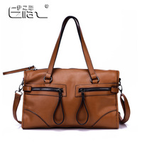 2013 New Arrival 100% Genuine Leather Cowhide Fashion Motorcycle Women's Messenger Handbag , High Quality Bag For Woman