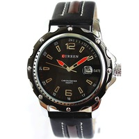 Hot Sale Fashion Casual Big Black Waterproof Sports Calendar Watches Men CURREN Free Shipping