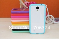 300 pcs/lot  Wholesale Clear Case TPU edge + acrylic Slim Protective  thin case  for Samsung I9500  S4