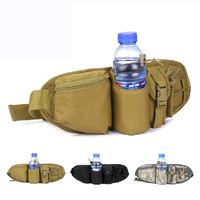 Army outdoor men waist pack for water bottle Small military waterproof nylon man belt bags 1010 Free shipping