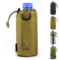 Nylon digital camouflage water bottle bags for outdoor sport travel Tactical military molle system bag 9225 Free shipping