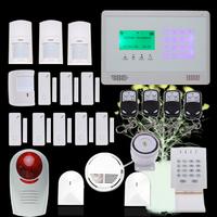 Wireless GSM SMS Touch Panel Auto-Dial Burglar Security Alarm System + Wireless password Keypad DIY kit TS-M2BX