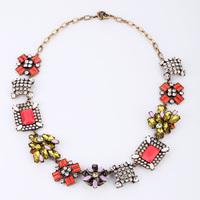 Fashion fashion accessories medium-long royal women's flower vintage necklace