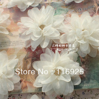 Chiffon Flower Meters Green Pink Fabric Flower Handmade Independent diy Accessories
